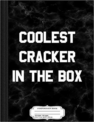 Coolest Cracker in the Box Composition Notebook: College Ruled 9¾ x 7½ 100 Sheets 200 Pages For Writing