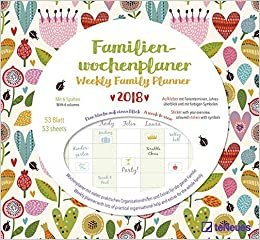 2018 Flowers Weekly Family Planner - 30.5 x 30.5 cm