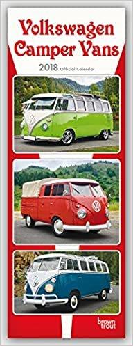 Volkswagen Camper Vans – VW Busse 2018: Original BrownTrout-Kalender - Slimeline [Mehrsprachig] [Kalender] (Slimline-Kalender)
