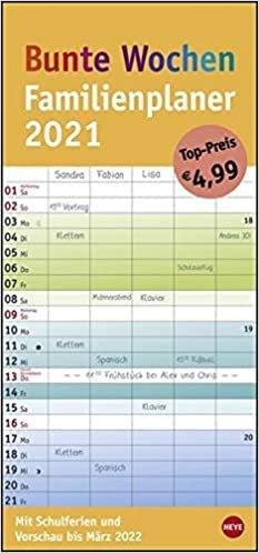Familienplaner Bunte Wochen - Kalender 2021