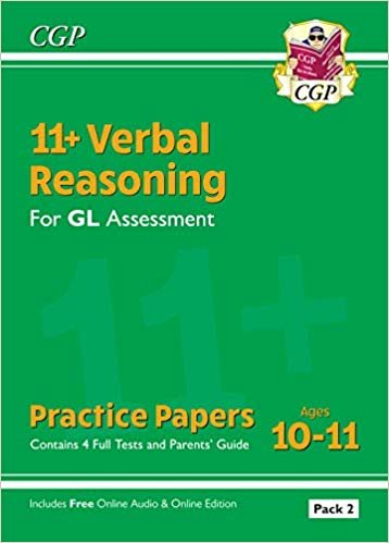 New 11+ GL Verbal Reasoning Practice Papers: Ages 10-11 - Pack 1 (with Parents' Guide & Online Ed)