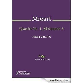 Quartet No. 1, Movement 3 - Score [Kindle-editie]