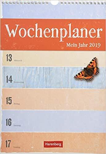 Wochenplaner Mein Jahr - Kalender 2019
