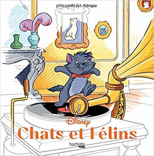 Les carrés d'Art Thérapie Disney Chats & Félins (Heroes)