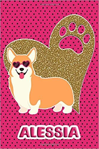 Corgi Life Alessia: College Ruled | Composition Book | Diary | Lined Journal | Pink (Atropos)