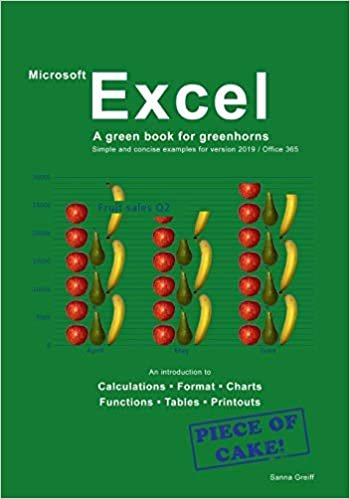 Excel - A green book for greenhorns: For version 2019 / Office365