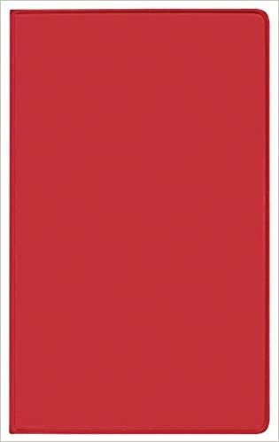 Taschenkalender Saturn Leporello PVC rot 2021: Terminplaner mit gefalztem Monatskalendarium. Dünner Buchkalender - wiederverwendbar. 1 Monat 2 Seiten. 8,7 x 15,3 cm