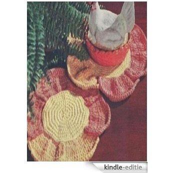 #0852 FLOWER HOT PLATE MAT VINTAGE CROCHET PATTERN (English Edition) [Kindle-editie]