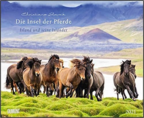 Die Insel der Pferde: Island und seine Isländer 2021 - Pferde-Kalender im Querformat