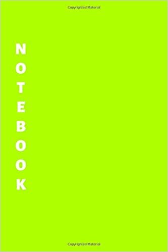 Notebook: Green Lined Notebook & Journal for Writing (110 pages, Lined, 6 x 9 inches, Matte, Colorful Cover) || Classic Notebooks