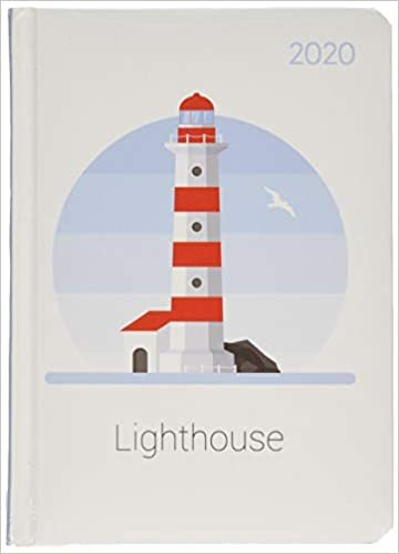 Mini-Buchkalender Style Lighthouse 2020 - Leuchtturm - Taschenplaner - Taschenkalender A6 - Day By Day - 352 Seiten - Terminplaner - Notizbuch