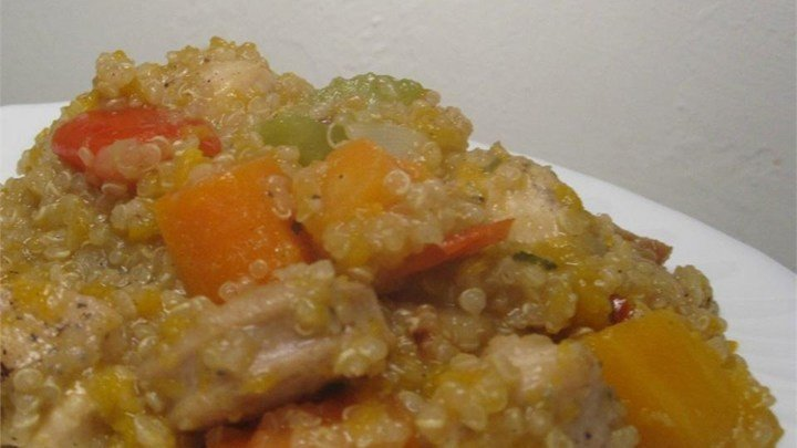 Stovetop Butternut Squash and Chicken Stew with Quinoa download