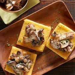 Fried Polenta Squares with Creamy Mushroom Ragu download