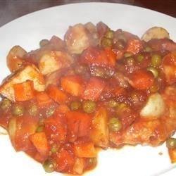 One Skillet Pork Supper