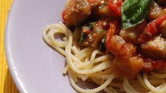 Quick Vegan Eggplant Pasta