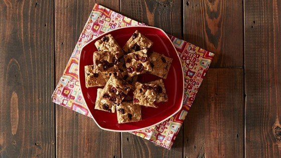 Blonde Brownies with White Chocolate and Cranberries download