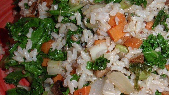 Brown Rice and Kale Salad download