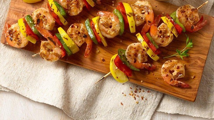 Spanish Garlic Shrimp on Skewers