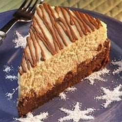 Reese's® Brownie Bottomed Peanut Butter and Milk Chocolate Chip Cheesecake download