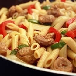 Bow Tie Pasta with Sausage and Sweet Peppers download
