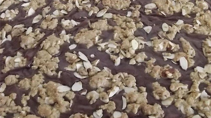 Fudge Nut Oatmeal Bars