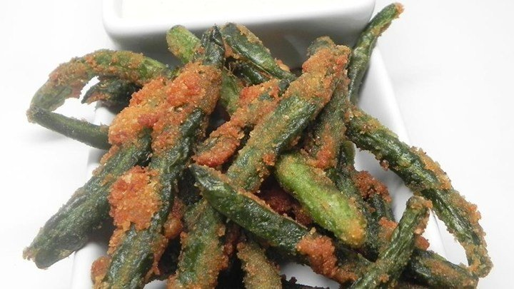 Green Bean Fries with Cucumber Wasabi Dip download