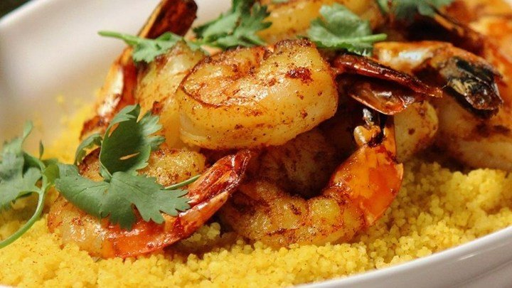 Spiced Couscous with Shrimp and Chermoula download