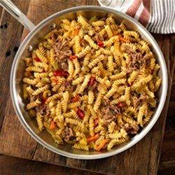 Easiest Rotini with Cheesy Italian Beef