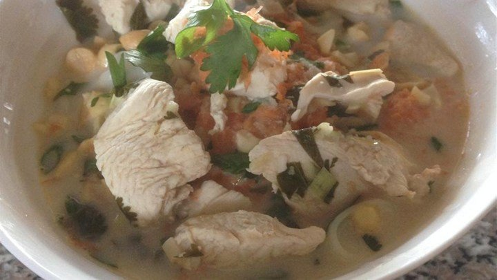 Chicken in Lemongrass Coconut Broth