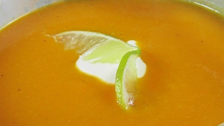 Curried Butternut Squash Soup with Lime Cream download