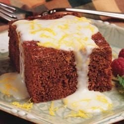 Gingerbread Cake with Lemon Cream Cheese Sauce download