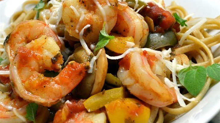 Spaghetti Diablo with Shrimp download