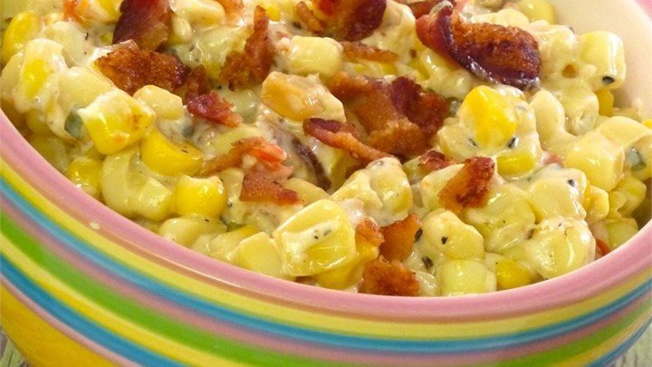 Slow Cooker Creamed Corn with Onion and Chives download