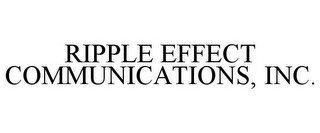 RIPPLE EFFECT COMMUNICATIONS, INC.