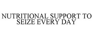 NUTRITIONAL SUPPORT TO SEIZE EVERY DAY