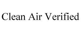 CLEAN AIR VERIFIED