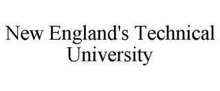 NEW ENGLAND'S TECHNICAL UNIVERSITY